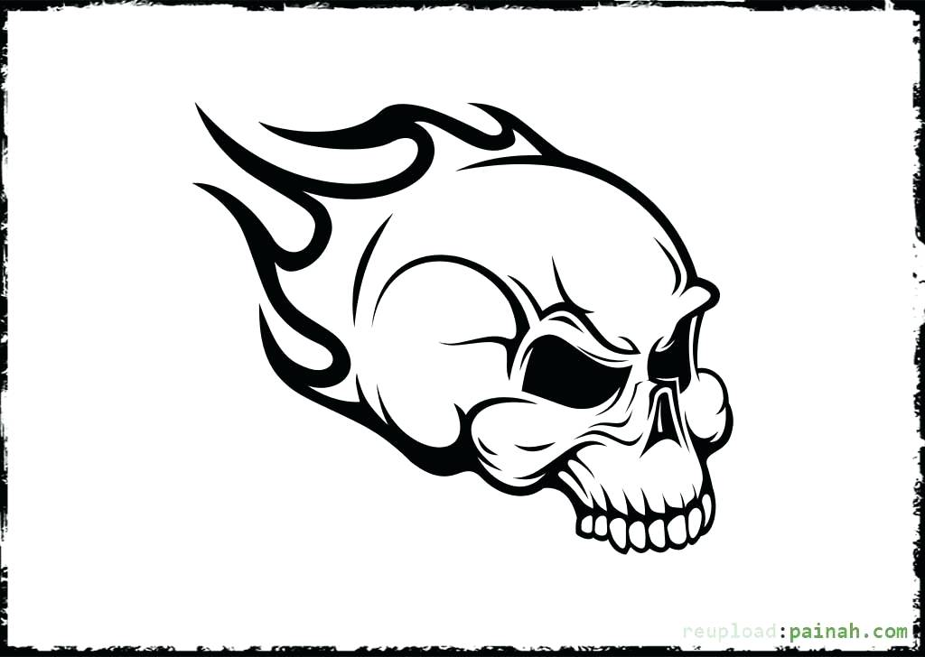 1024x728 Skull And Crossbones Coloring Page Free Printable Skull Coloring