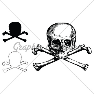 325x325 Skull And Crossbones Figure Gl Stock Images