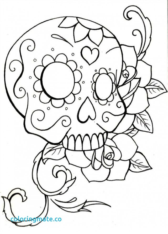 640x887 Skull Coloring Pages Beautiful Skull Crossbones Coloring Pages