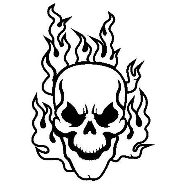 600x600 Skull Crossbones Coloring Pages