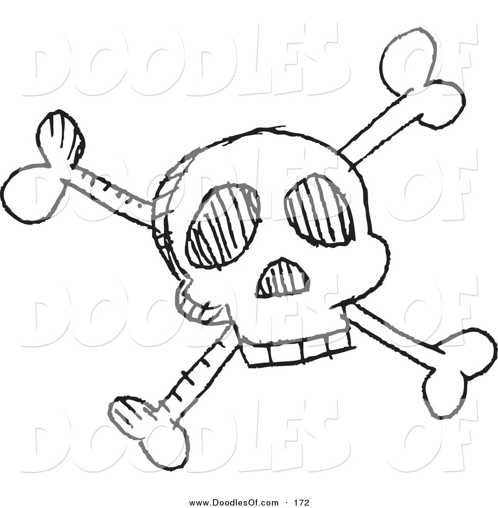 1024x1044 Vector Clipart Of A Cartoon Black And White Skull And Crossbones