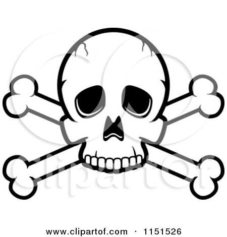 450x470 Black And White Skull And Crossbones Clipart