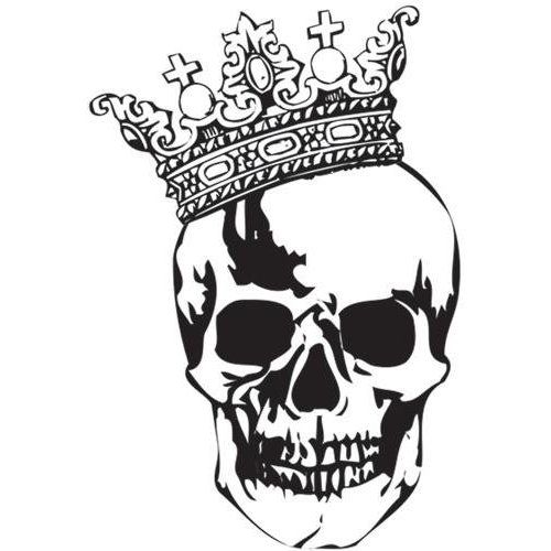 500x500 34 Best Skull With Crown Tattoo Designs Images