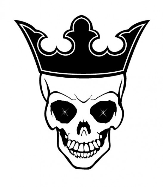 547x626 King Skull With Crown Vector Free Download