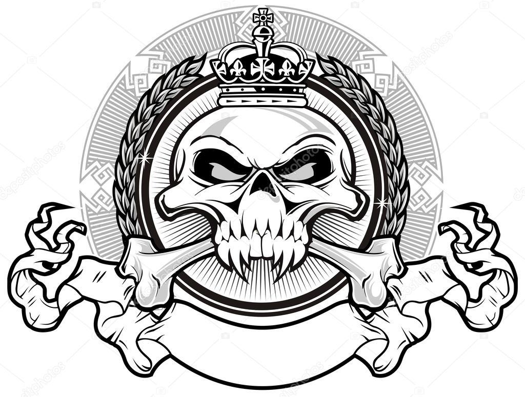 1024x775 Kingdom Skull Stock Vector Guntariana