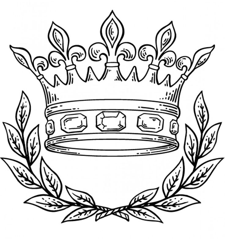 736x782 Queen Crown Drawing Group
