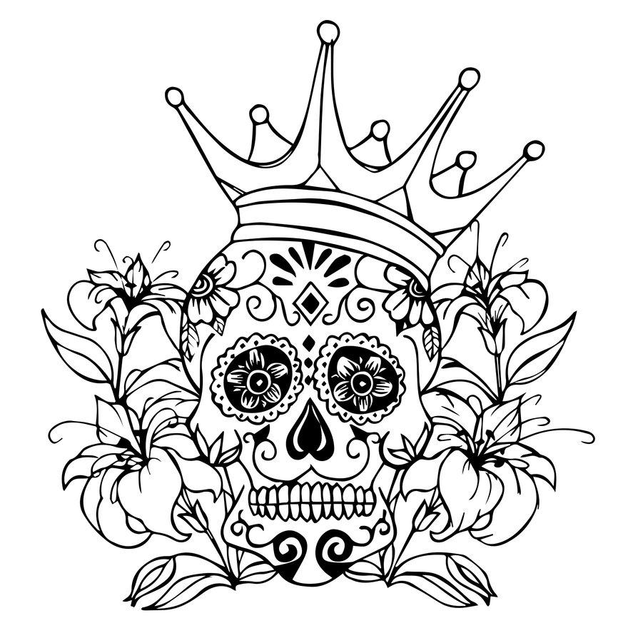 894x894 Sugar Skull By Tyrantlizard369