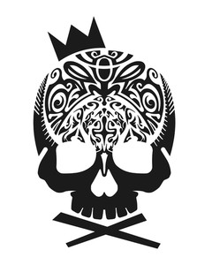 240x300 Black Skull With Crown Vector Royalty Free Stock Image