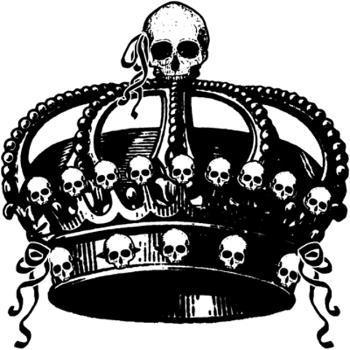 350x350 Egl Crown Skull Bk.png Iron On Gt Skulls Crown Gt Ophelia's Art