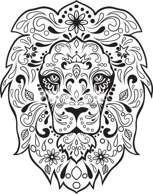 500x633 Sugar Skull Advanced Coloring 8 Sugar Skull Images, Sugar Skulls