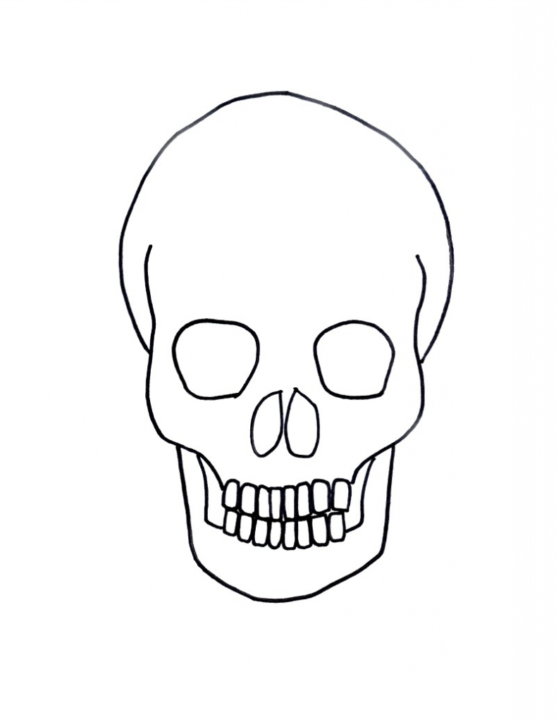 789x1024 Skull Simple Drawing