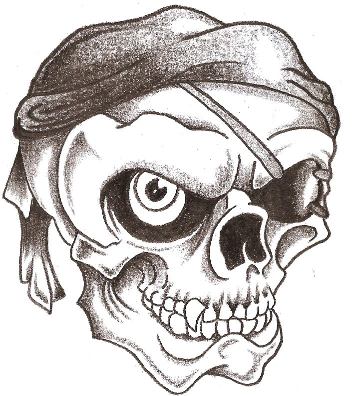 705x792 Pirate Skull By Thelob