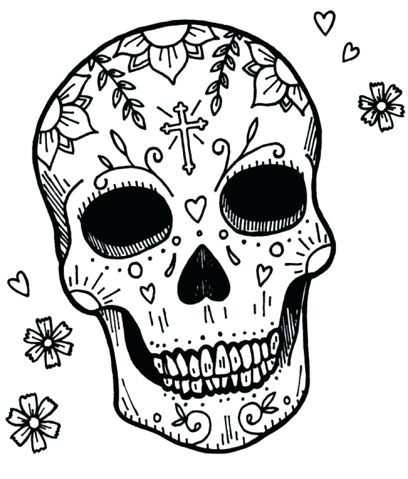 818x960 Sugar Skull Pictures Color Sugar Skull Coloring Book Page By Sugar