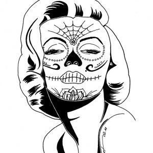 300x300 Adult Sugar Skulls Drawings Sugar Skull Tattoo Drawings. Sugar