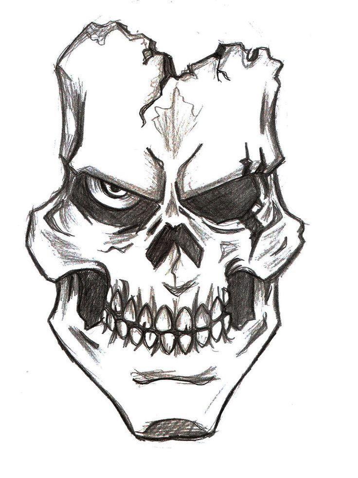 Easy Beginner Skull: Skull Drawing Easy At GetDrawings