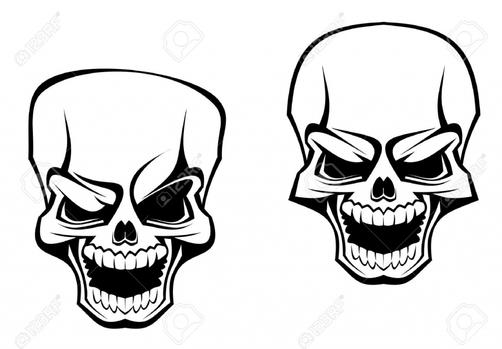 1024x713 Evil Skull Drawings Evil Skull Stock Photos Images Royalty Free