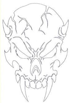 skull drawing outline at getdrawings  free download