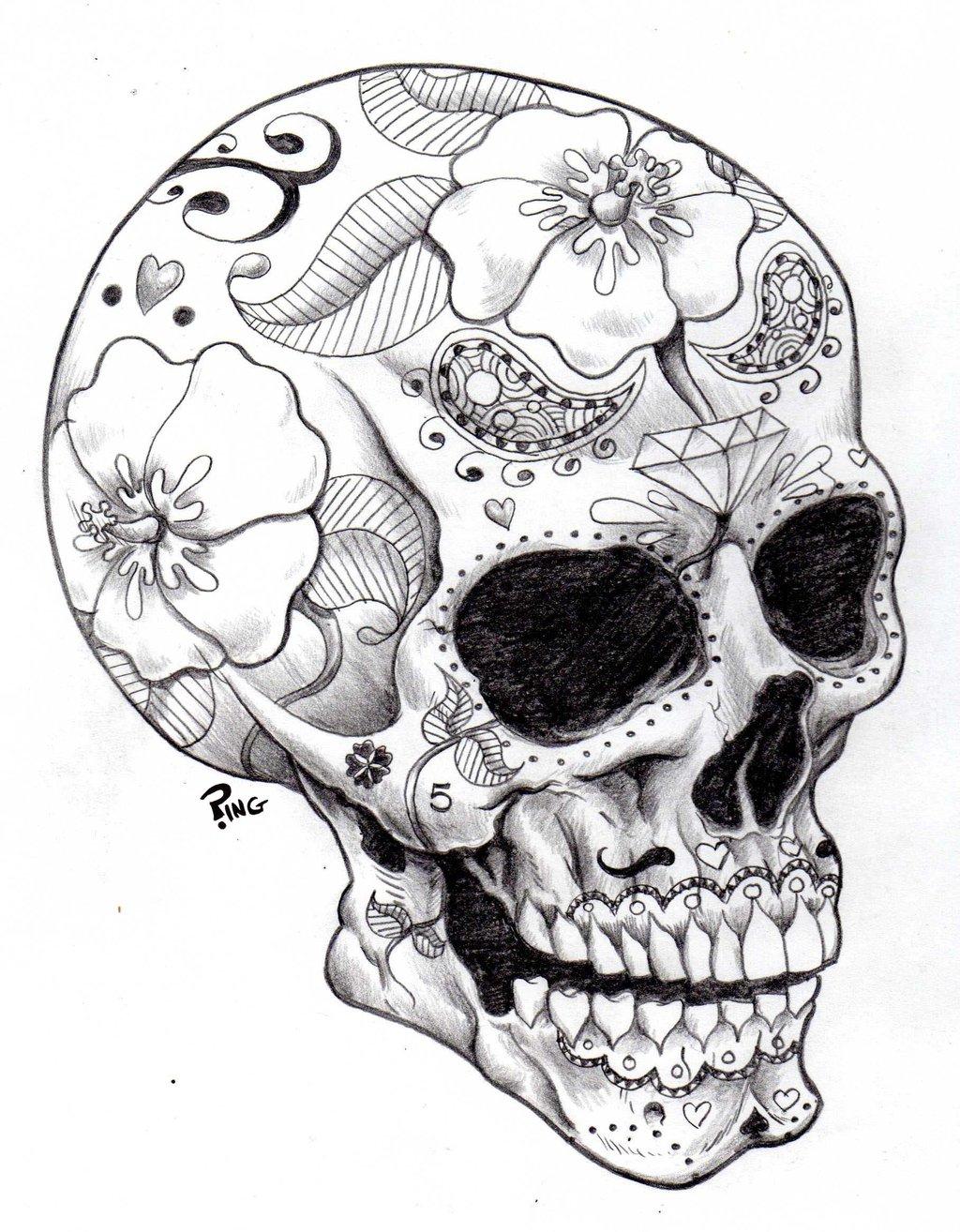 1024x1314 Candy Skull Drawing Candy Skull Sketch Skull Drawings Sugar