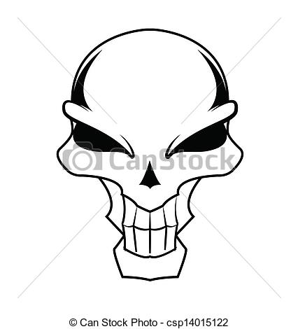426x470 Drawn Skull Simple