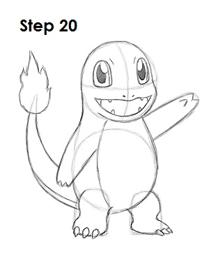 300x388 How To Draw Charmander