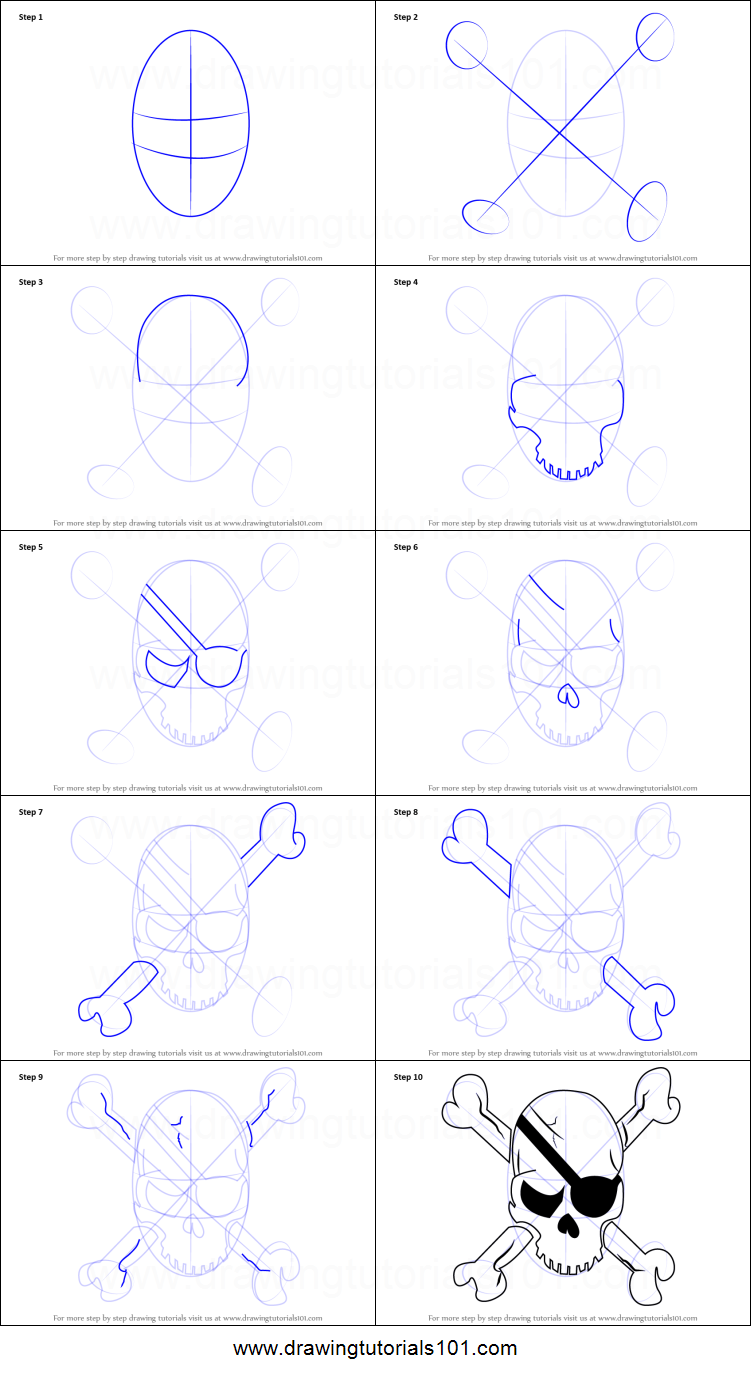 751x1376 How To Draw A Pirate Skull Printable Step By Step Drawing Sheet