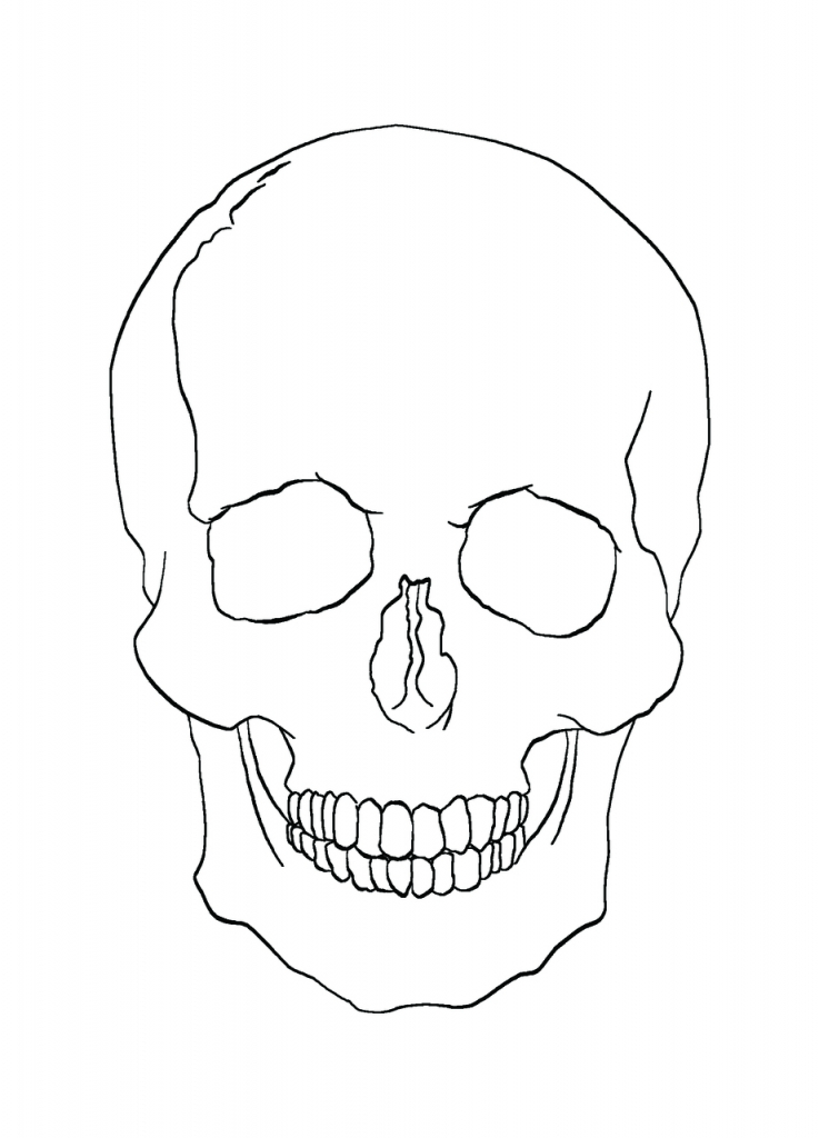 737x1024 Simple Skull Drawing Simple Skull Drawings Clipartsco