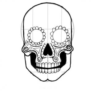 302x302 Candy Skull Drawings Easy
