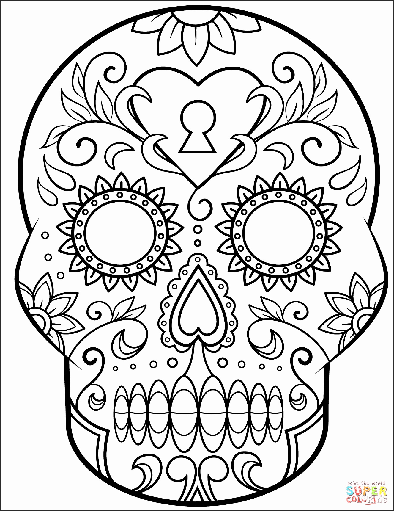 1326x1718 Day Of The Dead Skull Drawings Qafgi Lovely How To Draw Skulls