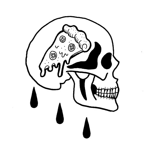 500x500 Pizza Skull Tumblr