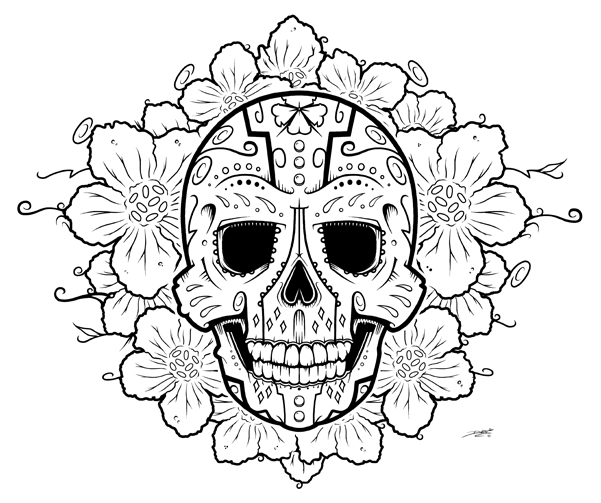 601x503 Easy Sugar Skull Drawings Tumblr
