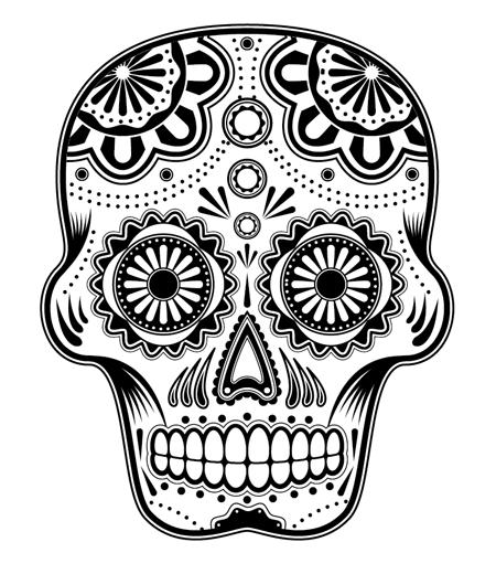 450x520 How To Create A Detailed Vector Sugar Skull Illustration Skull