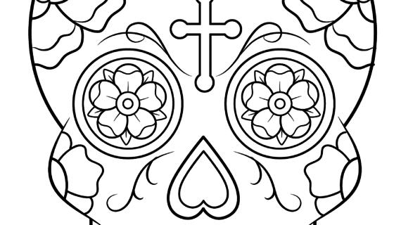 570x320 Simple Sugar Skull Drawing How To Draw Sugar Skulls, A Drawing