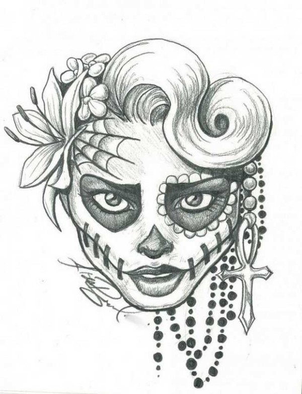 600x782 Sugar Skull Makeup Tutorial Halloween Day Of The Dead In Mexico