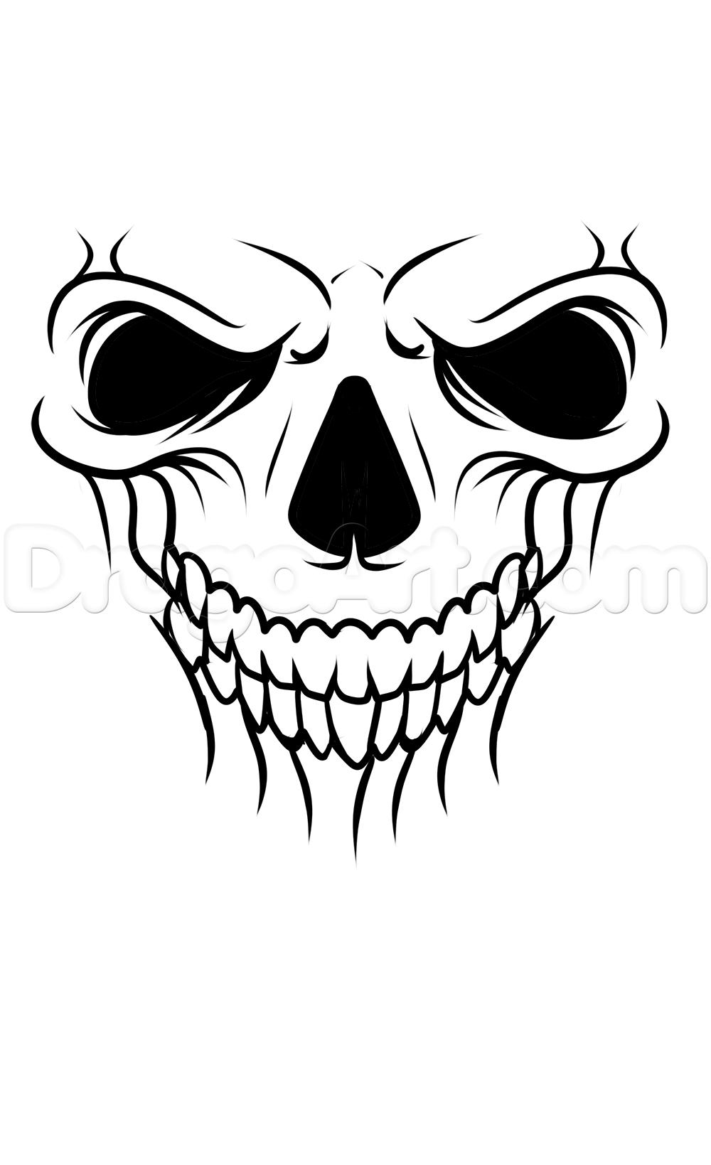 1000x1639 A Skull Tattoo Drawing Tutorial Step 5 Crafty!