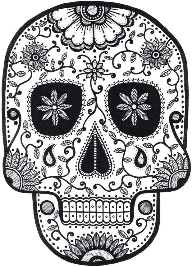618x861 Adult Sugar Skulls Drawings Sugar Skull Tattoo Drawings. Sugar