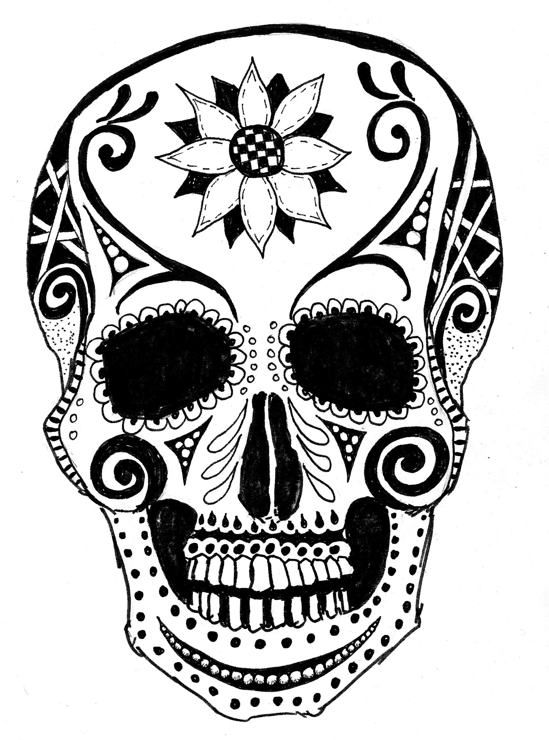1888x2544 Doodle Art Tutorial Six ~day Of Dead 2.