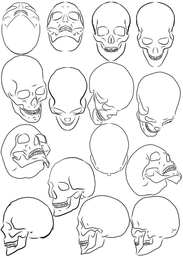 Skull Drawing Tutorial at GetDrawings.com | Free for personal use ...