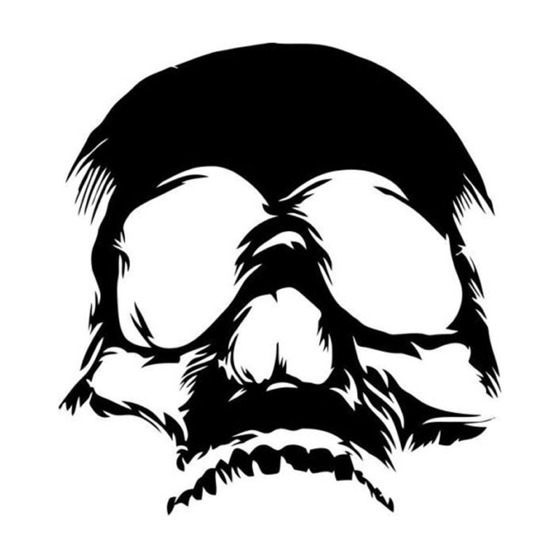 Skull Face Drawing