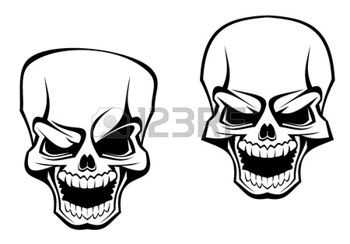 350x244 Skull Face Danger Skull As A Warning Or Evil Concept Evil Cycle