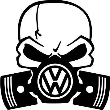 355x354 Vw Gas Mask Skull Vinyl Decal Sticker 6 Wide Gloss