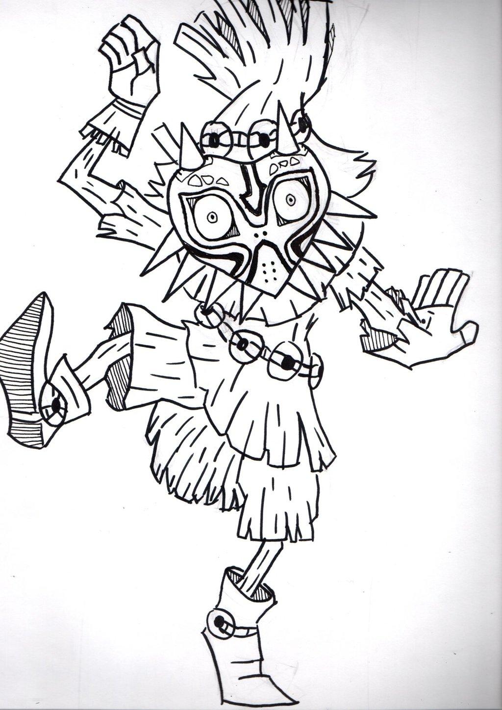 1024x1447 Skull Kid [Inktober Day 22] By Ronnie Newton