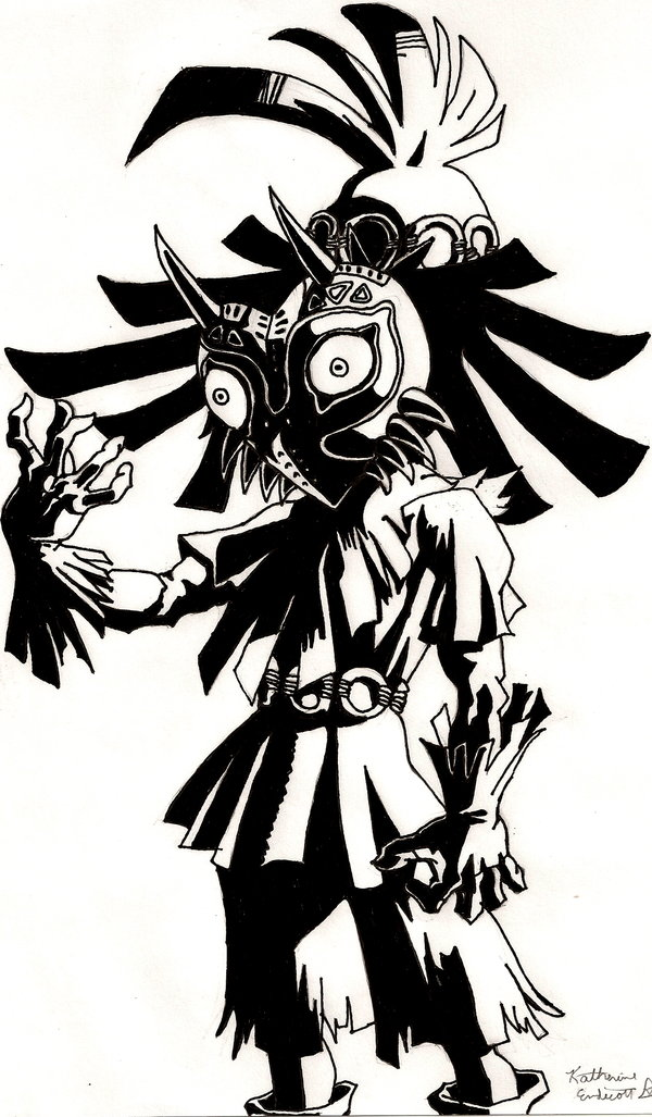 600x1027 Skull Kid By Linkypoo97