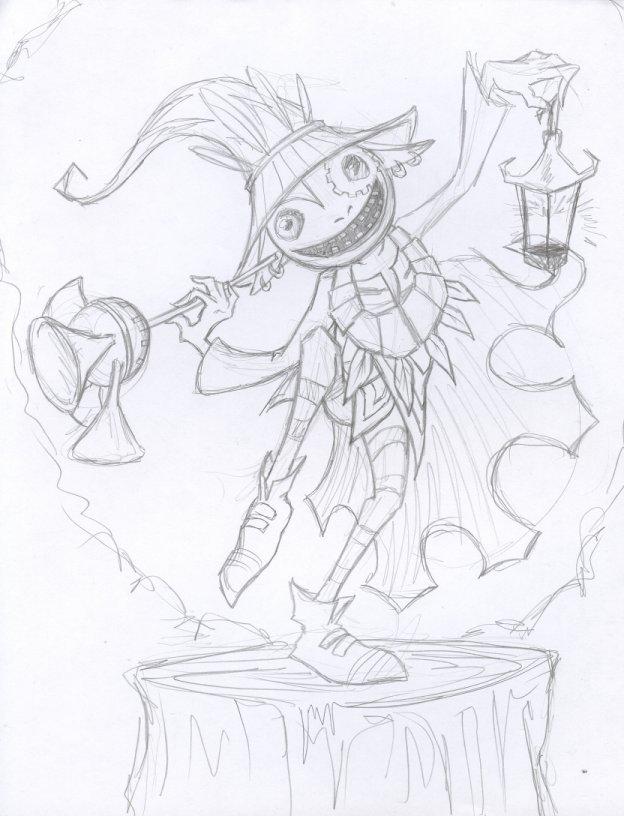 624x816 Tp Skull Kid Sketch By Albinoshadow