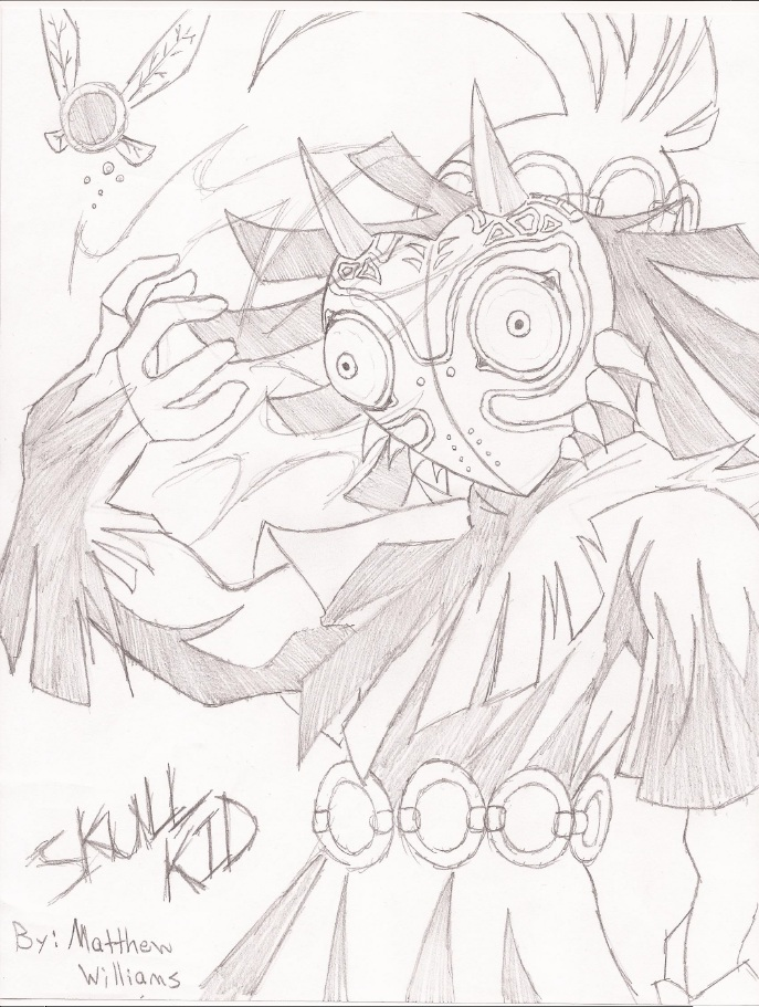 687x911 The Legend Of Zelda Majora's Mask Skull Kid By Gawdlikematt