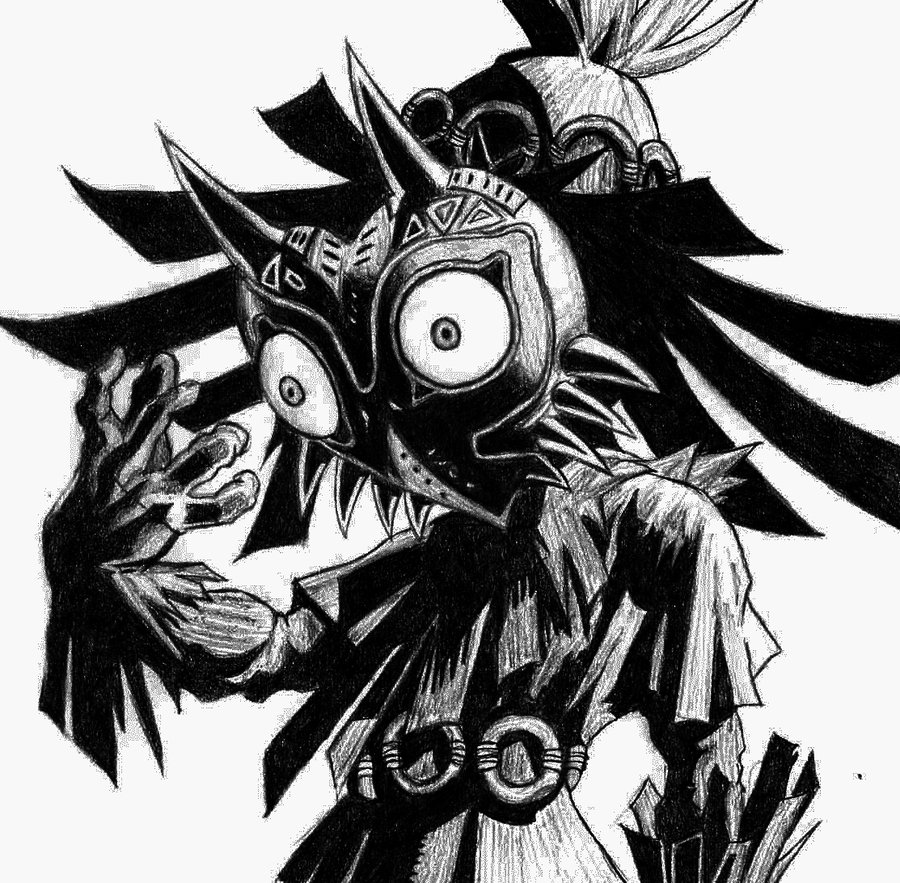 900x883 The Skull Kid By Jackpoints