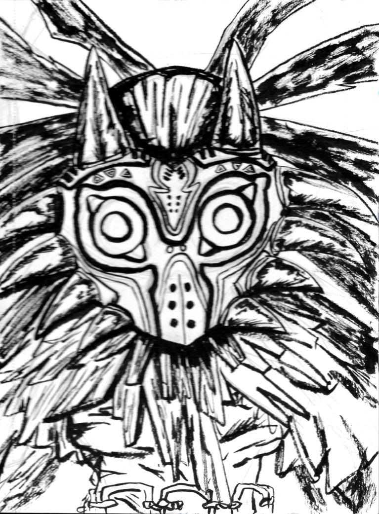 767x1042 Inktober Skull Kid By Autobotchari