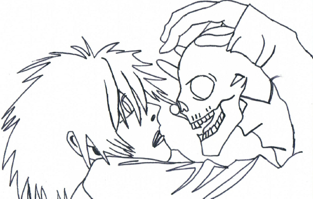 610x388 L With A Skull Line Drawing By Chucky 14567