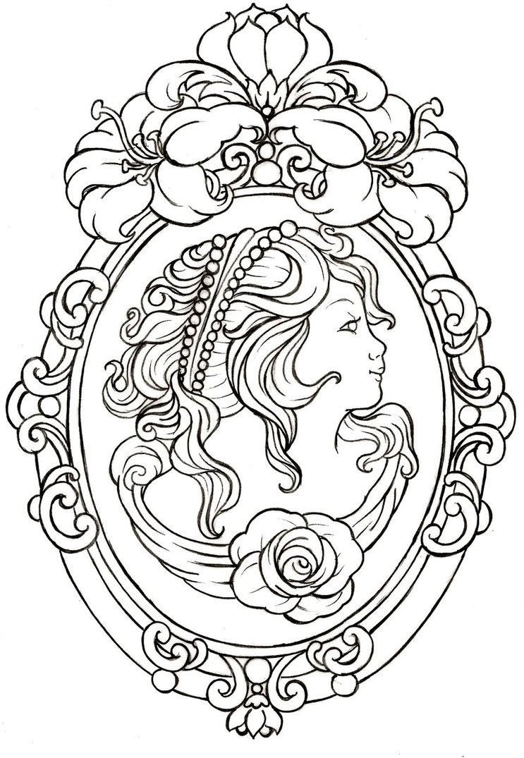 743x1075 Sugar Skull Line Drawings By Eaglespare