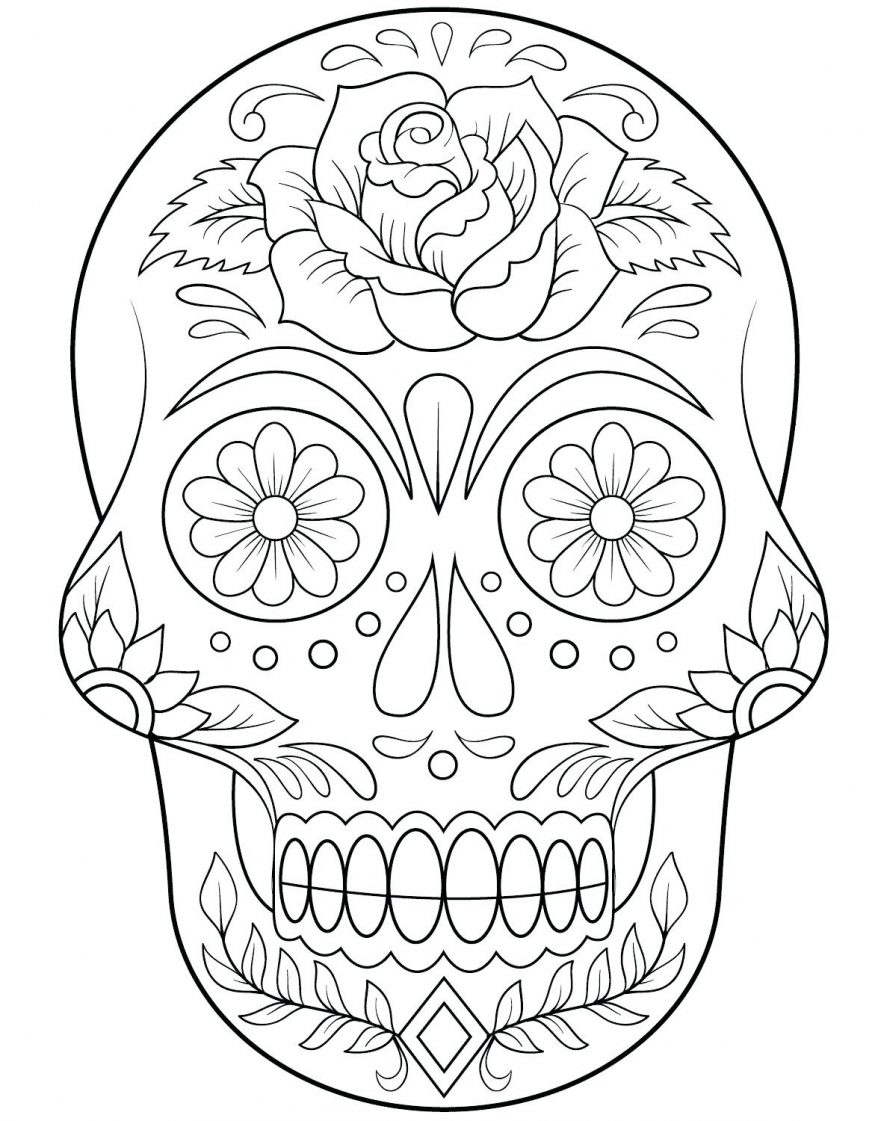 Skull And Rose Outline by vikingtattoo on DeviantArt |Skull Outline Drawings