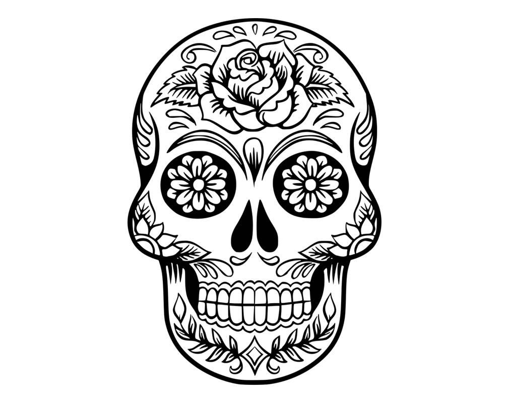 1010x800 Sugar Skull Svg Candy Skull Svg Dxf Sugar Skull Blackampwhite